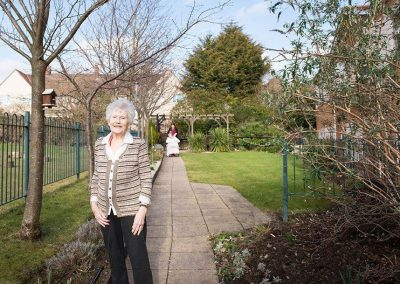 Bristol Care Homes Field House Horfield BS7 residents in garden 2