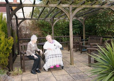Bristol Care Homes Field House Horfield BS7 residents in garden